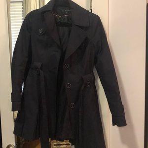 Navy Via Spiga Rain / Trench Coat